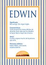 Nombre Edwin