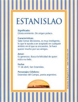 Nombre Estanislao