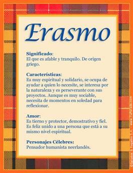 Nombre Erasmo