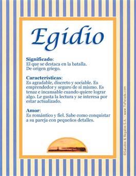 Nombre Egidio