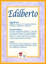 Nombre Edilberto