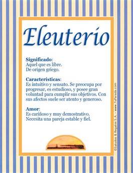 Nombre Eleuterio
