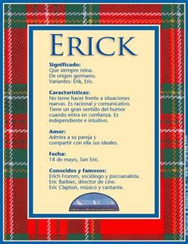 Nombre Erick