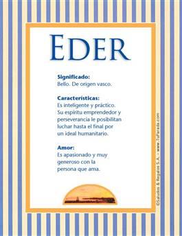 Nombre Eder