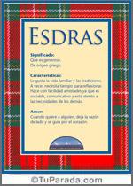 Nombre Esdras