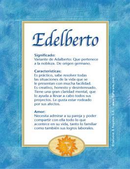 Nombre Edelberto