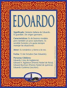 Nombre Edoardo