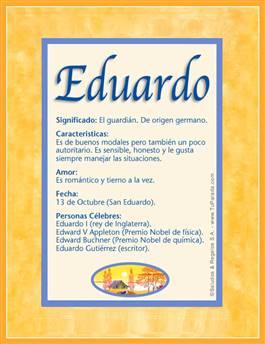 Nombre Eduardo