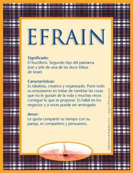 Nombre Efrain