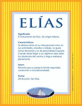 Nombre Elías