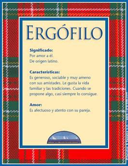 Nombre Ergófilo