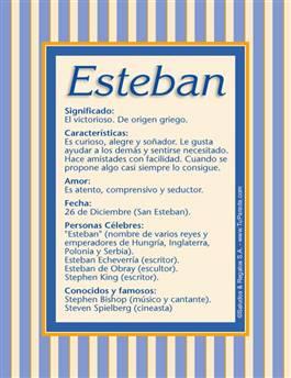 Nombre Esteban