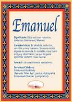 Nombre Emanuel