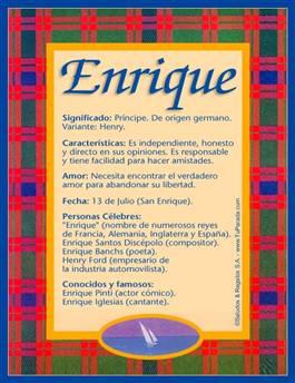 Nombre Enrique