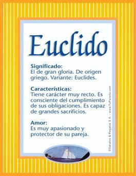 Nombre Euclido