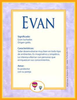 Nombre Evan