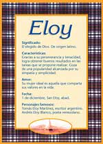 Nombre Eloy