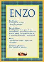 Nombre Enzo