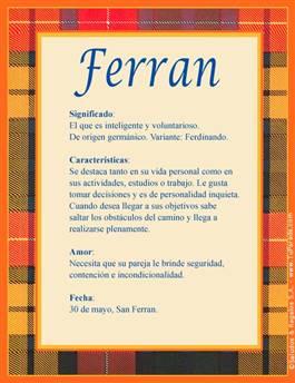 Nombre Ferran