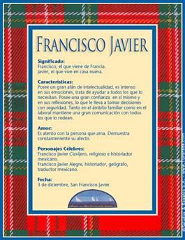 Nombre Francisco Javier