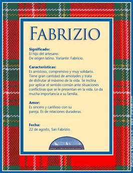Nombre Fabrizio