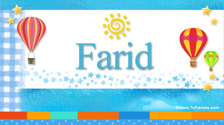 Farid, imagen de Farid