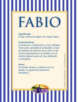 Nombre Fabio