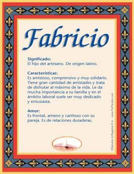 Nombre Fabricio