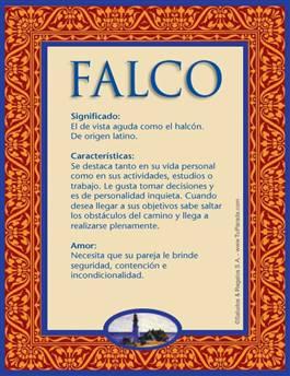 Nombre Falco