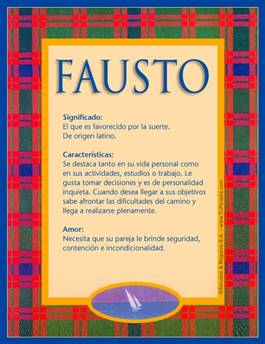Nombre Fausto