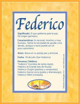 Nombre Federico