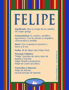 Nombre Felipe