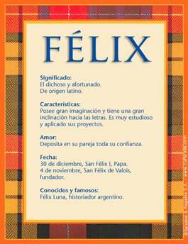 Nombre Félix