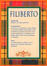 Nombre Filiberto