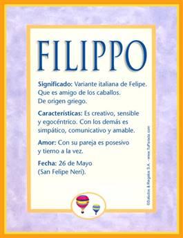 Nombre Filippo