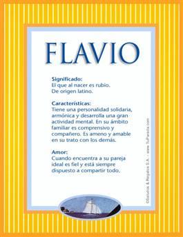 Nombre Flavio