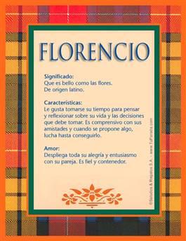 Nombre Florencio