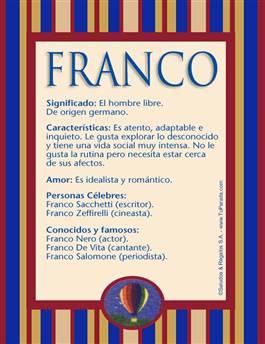 Nombre Franco