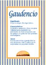 Nombre Gaudencio