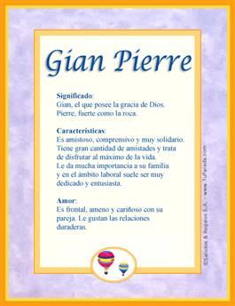 Nombre Gian Pierre