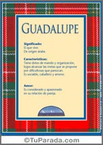 Nombre Guadalupe
