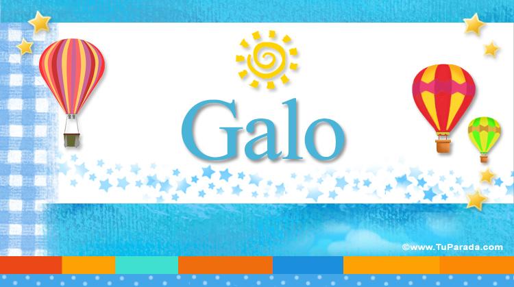 Galo, imagen de Galo