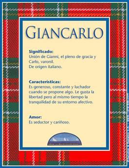Nombre Giancarlo