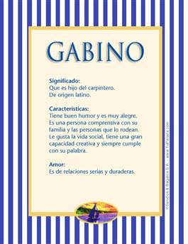 Nombre Gabino