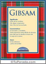 Nombre Gibsam