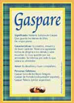 Nombre Gaspare