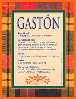 Nombre Gastón