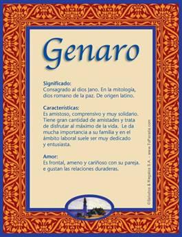 Nombre Genaro
