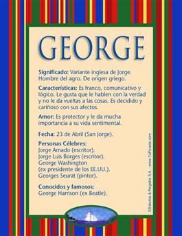 Nombre George