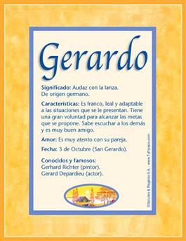 Nombre Gerardo